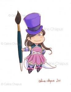 Artist Chibi by Celine Chapus