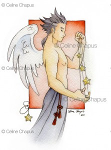 Jade by Celine Chapus - male angel art